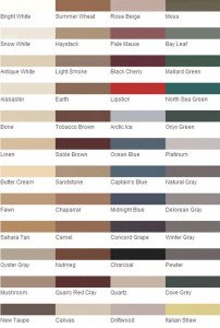 Grout Rejuvenator Polyblend Color Chart