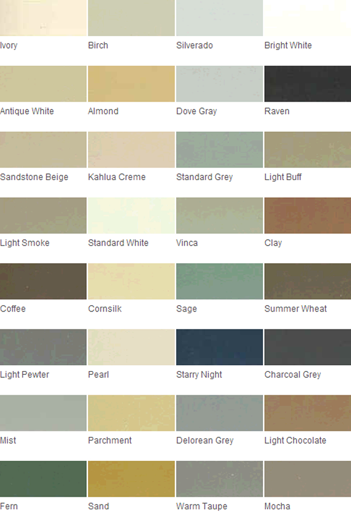Grout Rejuvenator Color Charts - Grout Stain, Tile Grout