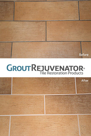 Grout Rejuvenator Grout Stain before and after picture
