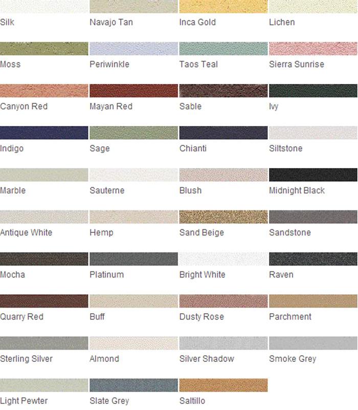 Grout Rejuvenator Color Charts - Grout Stain, Tile Grout