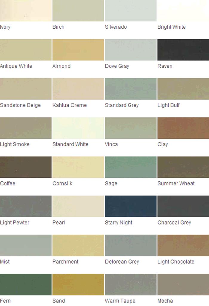 Grout Rejuvenator Color Chart Tec1